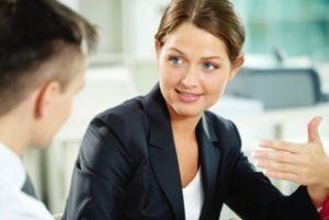 lawyer advising man